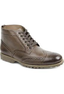 Bota Dress Boot Masculina Polo State - Masculino-Marrom