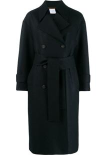 Harris Wharf London Trench Coat Com Abotoamento Duplo - Azul