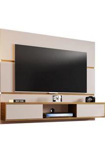 Painel Bancada Suspensa Para Tv Até 65 Pol. 2 Portas Âmbar Off White/C