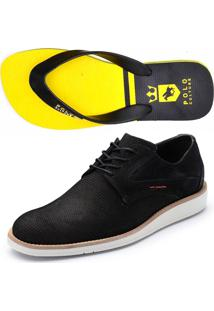 Kit 2 Pares, 1 Sapatênis 1 Chinelo Avalon Kit Z Preto/Amarelo