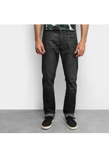 Calça Jeans Slim Forum Black Lavada Masculina - Masculino-Preto