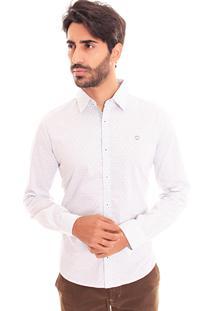Camisa Convicto Slim Bordado Logo Branco