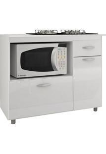 Balcão De Cozinha Isabel Para Cooktop 2 Pt 1 Gv Branco
