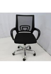 Cadeira Office Outlet Osorno Telinha Baixa Preta Cromada - 10 - Sun House