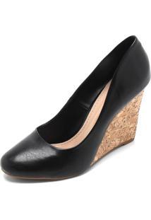Scarpin Dafiti Shoes Cortiça Preto