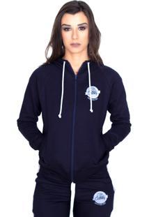 Blusa De Moletom Shatark Ztk Clothing Azul Marinho