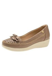 Sapato Anabela Doctor Shoes 7801 Bege