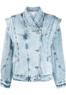 Isabel Marant Jaqueta Jeans Oversized - Azul
