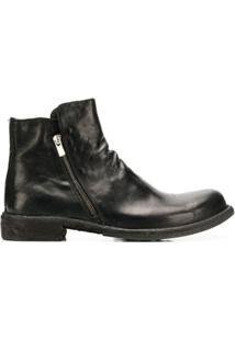Officine Creative Ankle Boot 'Ikon' Com Zíper - Preto