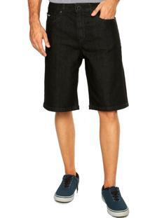 Bermuda Jeans Volcom Zip Preta