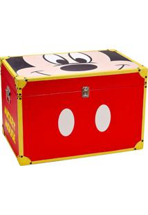 Baú Mickey® Parts- Vermelho & Amarelo- 40X60X40Cm