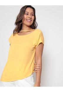Blusa Com Franzidos Laterais- Amarela- Arsenalarsenal