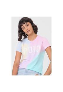 Camiseta Polo Ralph Lauren Logo Tie Dye Rosa/Verde