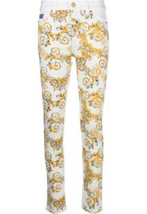 Versace Jeans Couture Calça Jeans Skinny Com Estampa Barroca - Branco