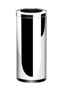 Lixeira Inox Com Aro 47 Litros - Decorline Lixeiras Ø 30 X 70 Cm - Brinox