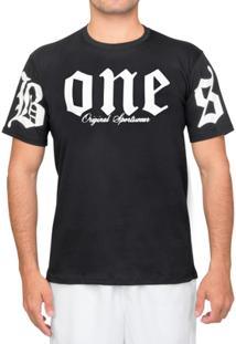 Camiseta Bones Original Casual Series Branca-P - Masculino