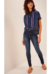 Calça Jeans Skinny Cintura Alta Montaria Comfort Jeans