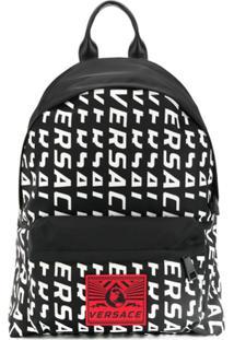 Versace Logo Backpack - Preto