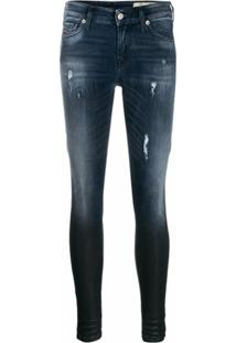 Diesel Calça Jeans Super Skinny Slandy - Azul