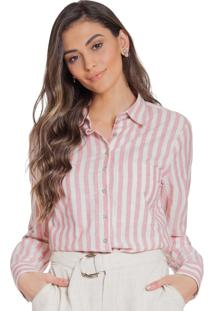 Camisa Principessa Hilda Listrada Rosê