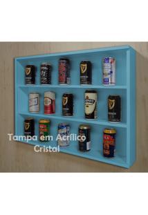 Mini Estante Vitrine Para Coleções Miniaturas / Cervejas Laquaeda - Azul