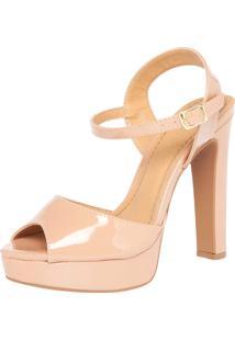 Sandália Dafiti Shoes Meia-Pata Nude