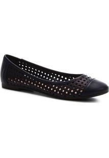 Sapatilha Shoestock Laser Feminina - Feminino-Marinho
