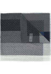 Stella Mccartney Echarpe Com Padronagem Monogramada - Cinza
