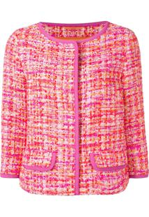 Herno Jaqueta De Tweed Cropped - Rosa