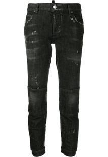 Dsquared2 Calça Jeans Skinny Cintura Baixa - Preto
