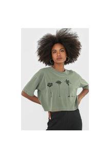 Camiseta Osklen Coqueiro Verde