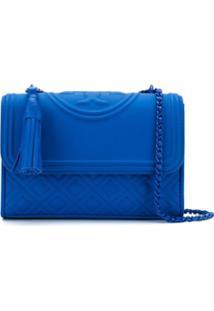 Tory Burch Bolsa Tiracolo Flemming - Azul