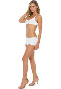 Calcinha Boxer - Feminino-Branco
