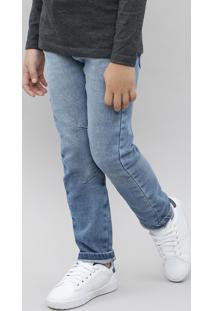 Calça Jeans Infantil Com Cordão Azul Claro