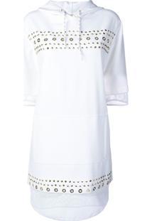 Versace Jeans Couture Vestido Com Tachas E Capuz - Branco