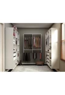 Closet Completo Com Prateleiras, Gaveteiros, Nichos Organizadores E Cabideiros - Getama Móveis