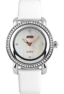 Relógio Skmei Analôgico Feminino - Feminino-Branco