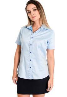 Camisa Pimenta Rosada Anelise - Feminino-Azul Claro