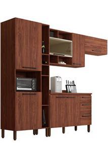 Cozinha Modulada Compacta 5 Peças Viv Concept C01 Nogueira - Kit´S Par