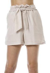 Shorts Bisô Clochard Feminino - Feminino-Branco