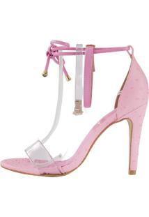 Sandália Minimalista Week Shoes Vinil 3 Tiras Rosa - Kanui