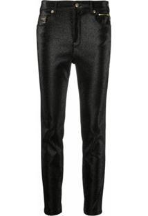 Versace Jeans Couture Calça Skinny Com Brilho - Preto