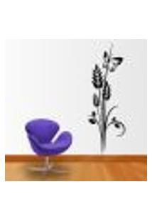 Adesivo De Parede Floral 39 (Com Borboleta) - M 120X40Cm