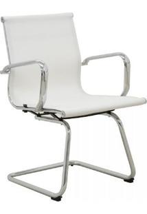 Cadeira Office Rivatti Sevilha Fixa Branca