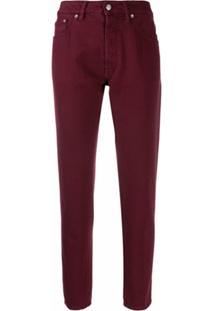 Golden Goose Calça Jeans Reta Cropped - Vermelho