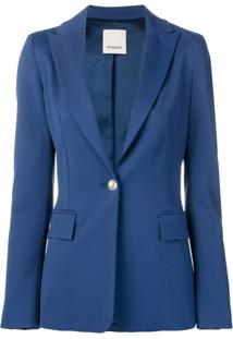Pinko Classic Fitted Blazer - Azul