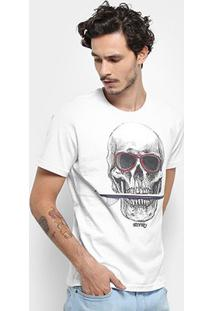 Camiseta Stanley Skull Surf Masculina - Masculino-Branco
