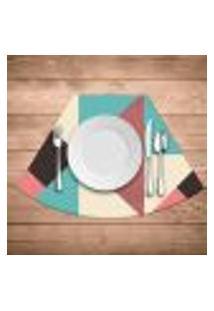 Jogo Americano Para Mesa Redonda Wevans Abstract Colors Kit Com 4 Pçs