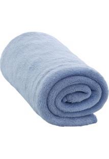 Cobertor Em Microfibra- Azul Claro- 90X110Cm- Cacamesa