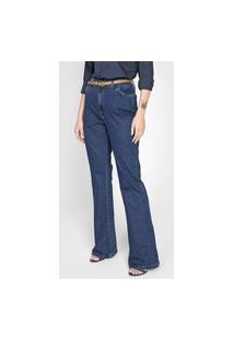 Calça Jeans Dudalina Flare Essentials Azul